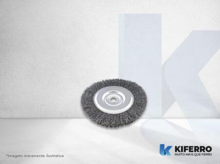 Escova Circular de Aço Carbono Ondulada